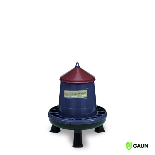 RECYCLED PLASTIC POULTRY FEEDER 4 KG. WITH LEGS